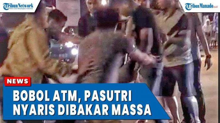 VIDEO Viral Pasutri Nekat Curi Uang di Mesin ATM, Nyaris Dibakar Massa