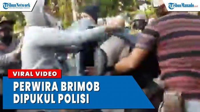 VIDEO Viral Perwira Brimob Dipukul Anggota Sabhara Saat Amankan Demo