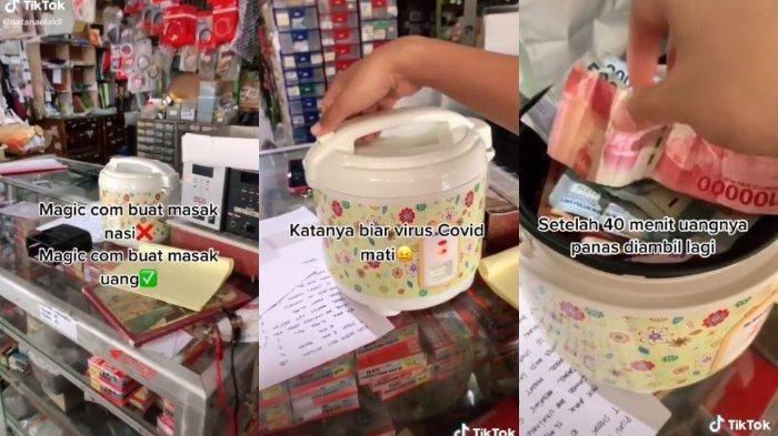 VIRAL, Uang Dipanaskan Rice Cooker agar Virus Corona Mati, Bolehkah? Begini Cerita Aldi