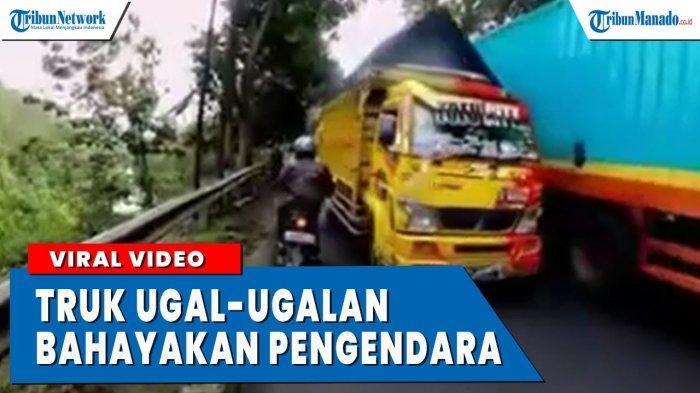 VIDEO Aksi Ugal-ugalan Sopir Truk yang Membahayakan