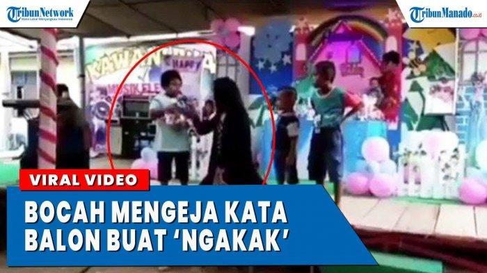 VIDEO Viral Aksi Lucu Bocah Mengeja Balon, Pengunjung Terbahak-bahak