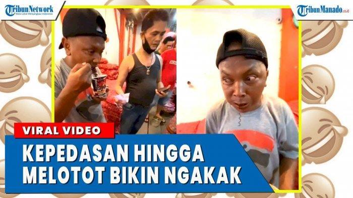 VIDEO Lucu Pria Makan Mie Instan, Kepedesan Sampai Mata Melotot