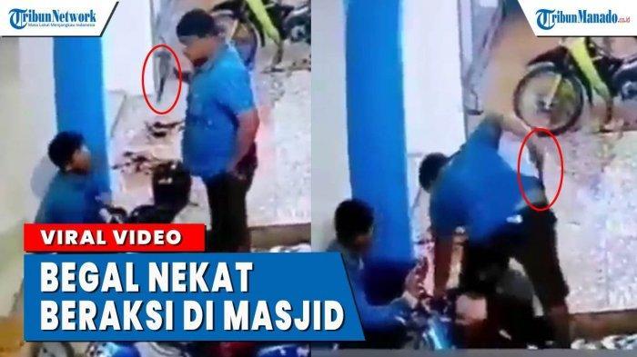 VIDEO Pelaku Begal Nekat Beraksi di Masjid