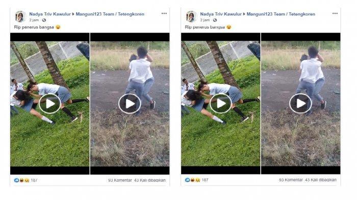 VIRAL VIDEO Perkelahian Pelajar, Siswi dan Siswa Baku Hantam, Rok Terangkat hingga Teriak Nama Levi
