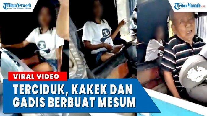 VIDEO Kakek dan Gadis Muda Berbuat Tak Senonoh di Bajaj yang Diparkir di Pinggir Jalan