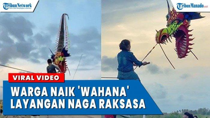 VIDEO Viral Warga Naik Wahana Layang-layang Raksasa