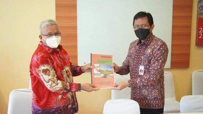Sambangi Kantor BNPP Jakarta, Wabup Amin Lasena Bahas Rencana Pembangunan Pesisir Pantai Pinogaluman