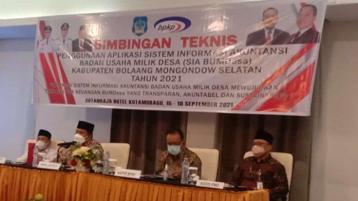 Hadiri Bimtek, Wabub Bolsel Deddy Abdul Hamid : Pemdes Harus Kreatif dan Berinovasi