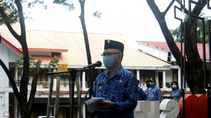 Pemkab Sitaro Gelar Apel Korpri Perdana Setelah Pandemi Covid-19