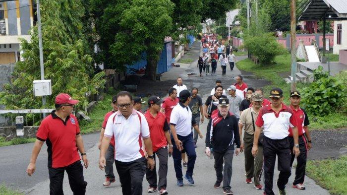 Wabup Sitaro Apresiasi Buruh dengan Jalan Sehat