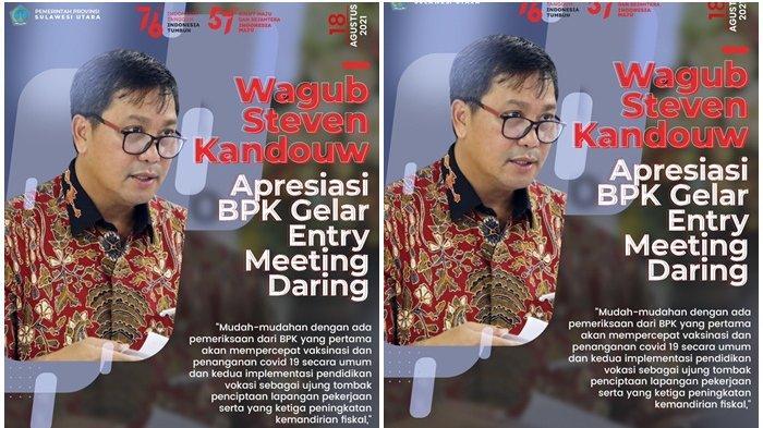 Wagub Steven Kandouw Malah Senang BPK Periksa Kinerja 3 Program Pemprov Sulut