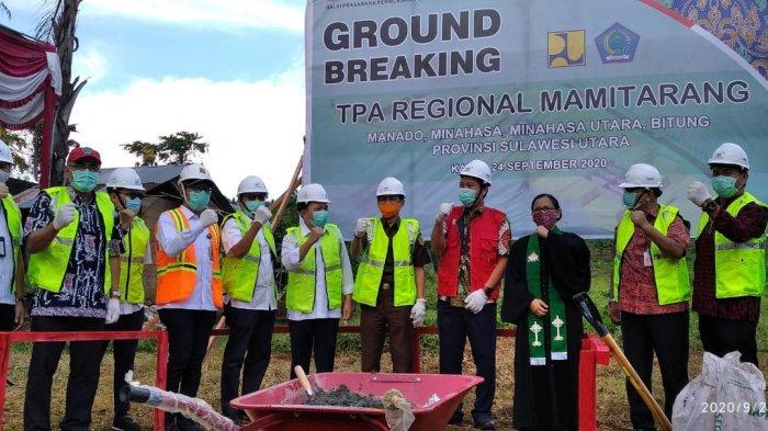 Wagub Sulut Steven Kandouw Letakkan Batu PertamaTPA Regional Mamitarang di Wori