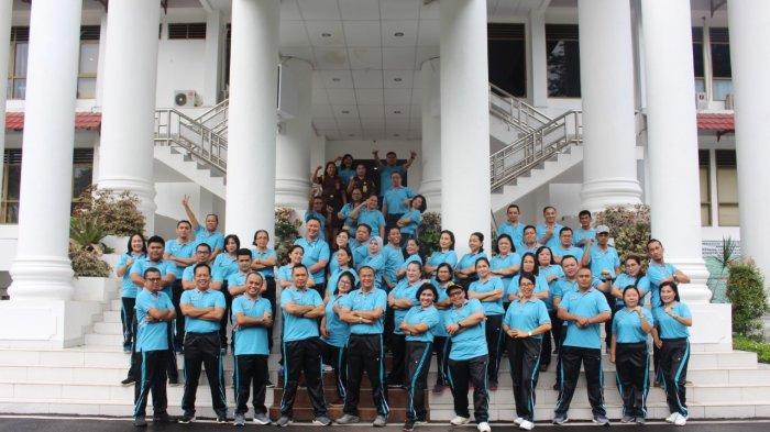 Wakajati Pimpin Olahraga Senam Pagi Perdana 2020, Dirangkaikan Kebersamaan Jajaran Kejati Sulut