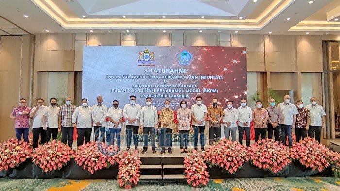 Waketum Kadin Indonesia, Arsjad Rasjid bersama para Ketua Umum Kadin provinsi dalam silaturahmi di Luwansa Manado, Sabtu (12/06/2021).
