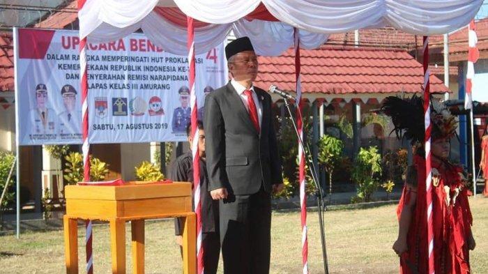 Wabup Wongkar Jadi Inspektur Upacara di Rutan Amurang