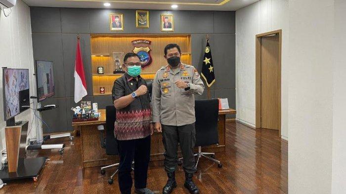Wakil Bupati Moktar Arunde Parapaga Bersilahturahmi dengan Kapolda Sulut