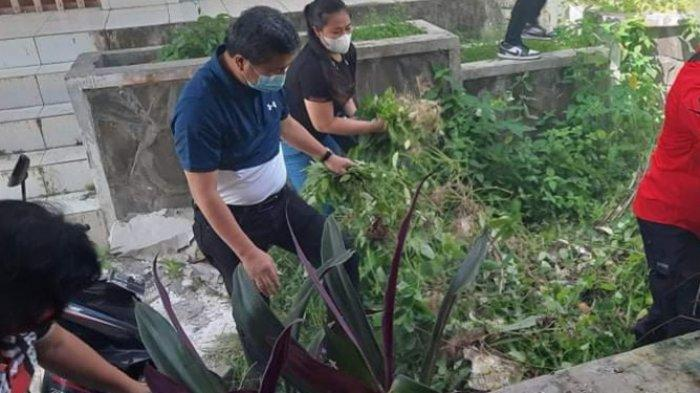Wakil Bupati Minsel, Petra Yani Rembang memerintahkan ASN Humas dan Dinas Koperasi untuk membersihkan kawasan kantornya. Petra sendiri langsung memulai membersihkan sampah dan rumput liar di sekitar kantor itu.