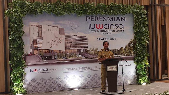 Wakil Gubernur Sulut, Steven Kandouw meresmikan Luwansa Hotel and Convention Center Manado, Rabu (28/04/2021).