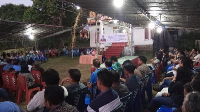 Wakil Ketua MPR RI Serap Aspirasi Masyarakat Siau