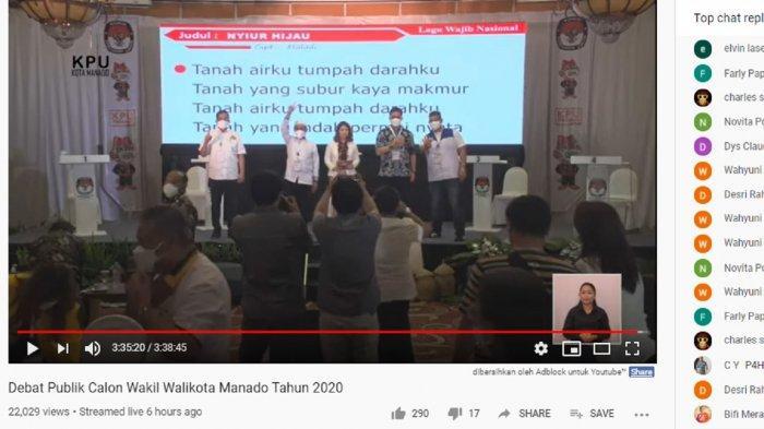 Debat Pilkada 2020 Kota Manado Bahas Penanganan Covid-19, Berikut Paparan Para Calon Wakil Wali Kota