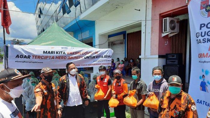 Lepas Tim Relawan, Wawali Manado Richard Sualang Apresiasi Pemuda Pancasila dan Indika Foundation