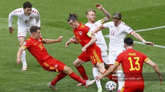HASIL EURO 2020, Wales Kalah Telah 4-0 dari Denmark, Gareth Bale Tak Berdaya
