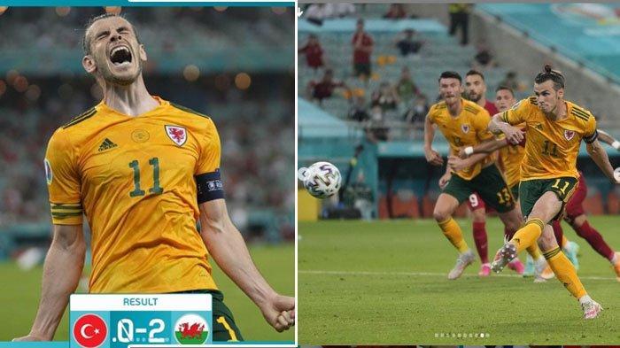 Skor Turki VS Wales, The Dragons Menang, Berikut Nama-nama Pencetak Gol