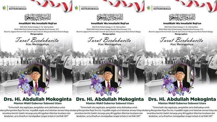 Tokoh Sulut Abdullah Mokoginta Meninggal, Wali Kota Kotamobagu Berduka