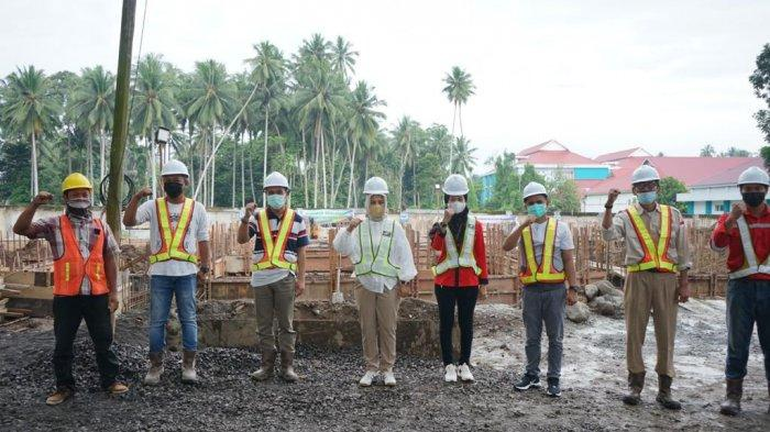 Wali Kota Kotamobagu Tatong Bara Tinjau Pembangunan Gedung Isolasi Berbanderol Rp 9,7 Miliar