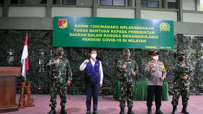 Wali KotaVicky Lumentut: Terima Kasih TNI-Polri Mendukung Upaya Penanganan Covid-19