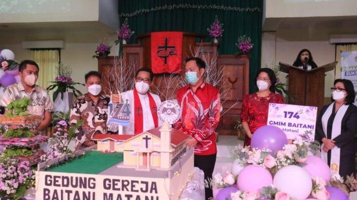 Hadiri HUT Ke-174 GMIM Baitani Matani, Begini Pesan Wali Kota Tomohon Caroll Senduk