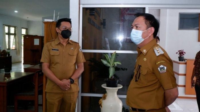 Wali Kota Tomohon Caroll Senduk melakukan inspeksi mendadak di sejumlah Kantor Satuan Kerja Perangkat Daerah (SKPD), Senin (22/3/2021).