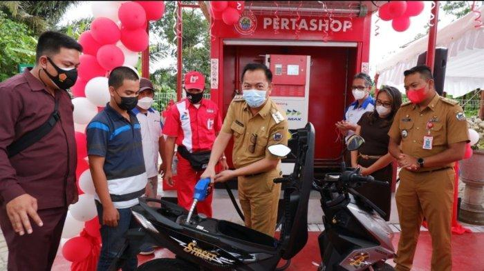 Pertashop Kelurahan Kolongan Tomohon Beroperasi, Caroll Senduk: Sangat Membantu Masyarakat