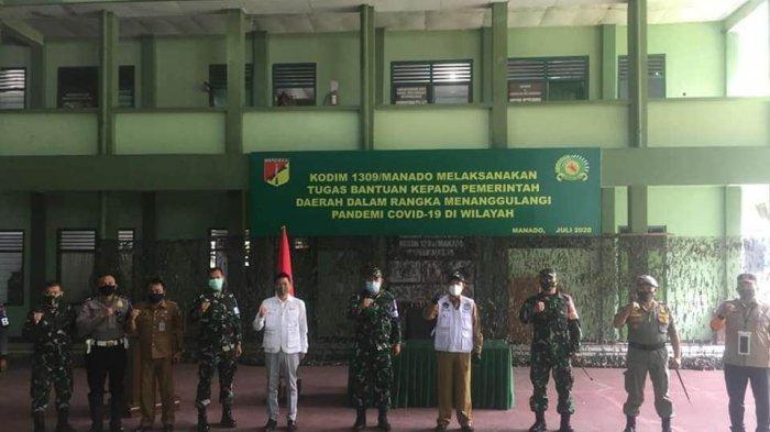 Sambangi Kodim 1309, Walikota Sebut Manado Kembali Zona Merah: Ini Memerlukan Dukungan