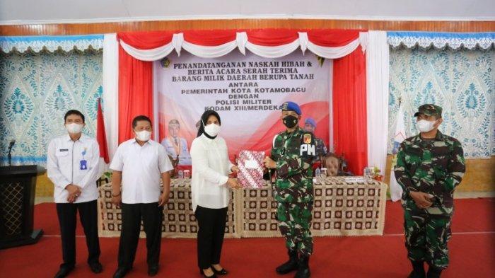 Pemkot Kotamobagu Hibahkan Tanah ke Polisi Militer Kodam XIII/Merdeka