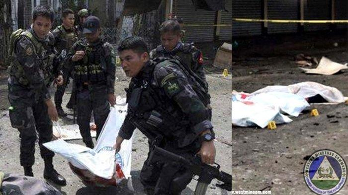 Seorang Wanita WNI Berstatus Teroris Lakukan Bom Bunuh Diri di Filipina, Polisi Evakuasi Tadi Subuh