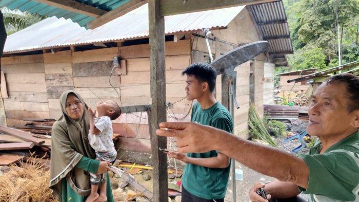 Hujan Sejak Malam, Warga Bolang Aso Kabupaten Bolsel Mengaku Tidak Bisa Tidur Nyenyak