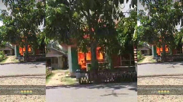 Warga Desa Mopait Padamkan Api Dengan Pot Bunga