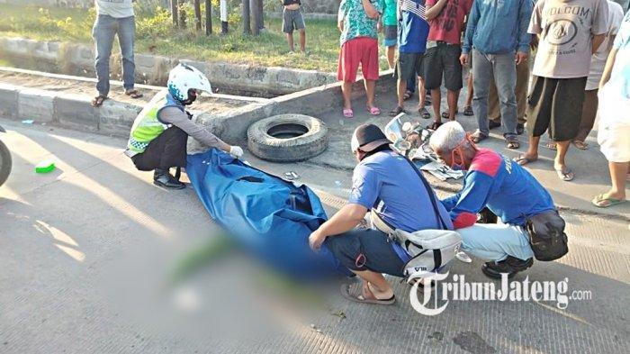 Kecelakaan Maut, Seorang Pemuda Pengendara Motor Beat Tewas, Korban Terpental Lalu Terlindas Truk