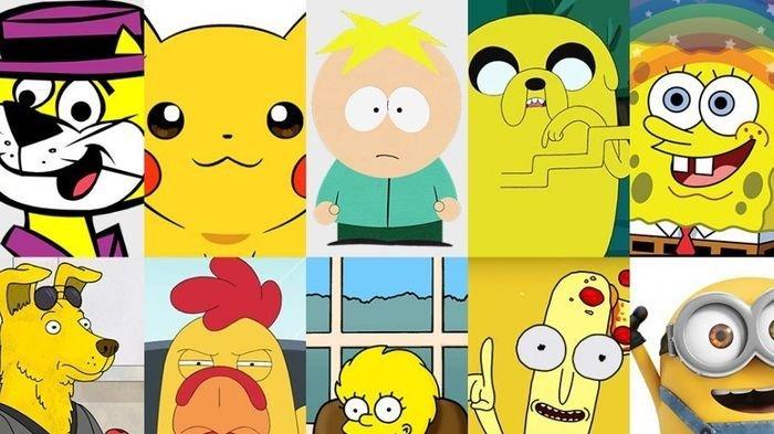 Sadarkah Kamu Ternyata Banyak Tokoh Kartun yang Berwarna Kuning, Inilah 3 Alasan Dibaliknya!