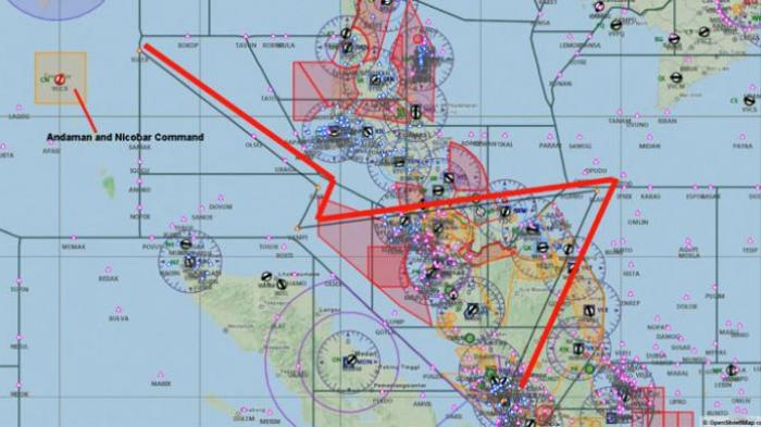 Waypoint pesawat Malaysia Airlines MH370. Sumber: http://airinfodotorg.files.wordpress.com/