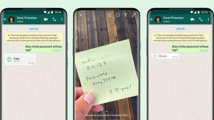 Fitur Baru WhatsApp, Cara Kirim Foto dan Video Sekali Lihat, Langsung Terhapus