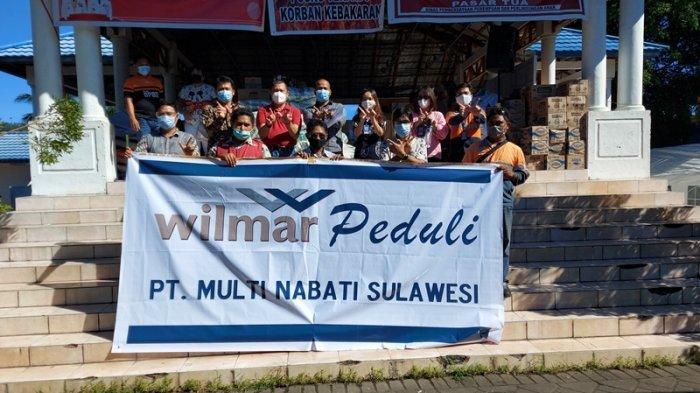 Wilmar Peduli PT Multi Nabati Sulawesi Serahkan Bantuan 1 Ton Besar ke Korban Kebakaran Pasar Tua
