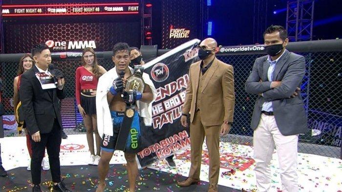 Windri Patilima Juara One Priede, Tumbangkan Theodorus Ginting, Warga Kotamobagu Bangga