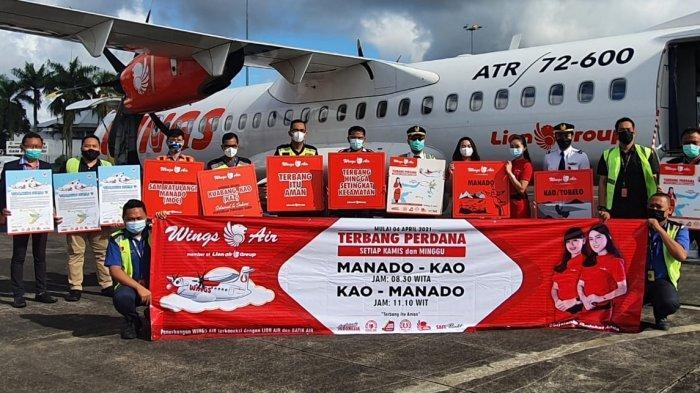 Wings Air Buke Rute Baru, Manado-Kao, Malut PP, Terbang Dua Kali Sepekan, Tiap Minggu dan Kamis