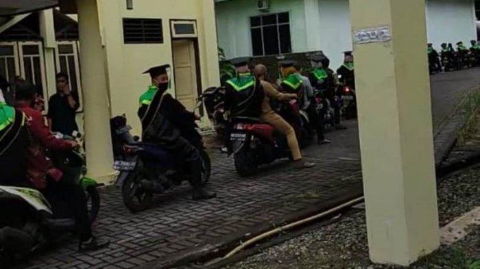 Wisuda Drive Thru di IAIN Manado