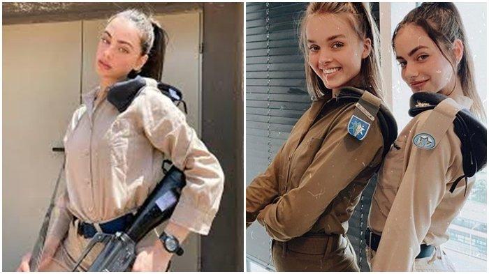 Yael Shelbia berpose dengan pakaian militer Angkata Udara Israel.