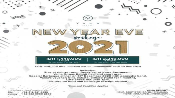 Let's Welcoming Fabulous New Year 2021 at Yama Resort Tondano