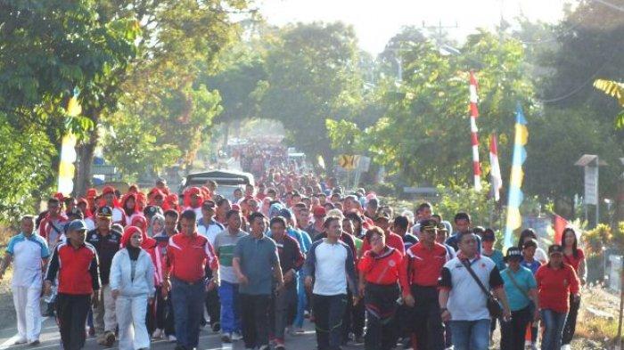 Semarak HUT ke-72 RI oleh Pemkab Bolmong, Ada Lomba Sepak Bola Ibu-ibu