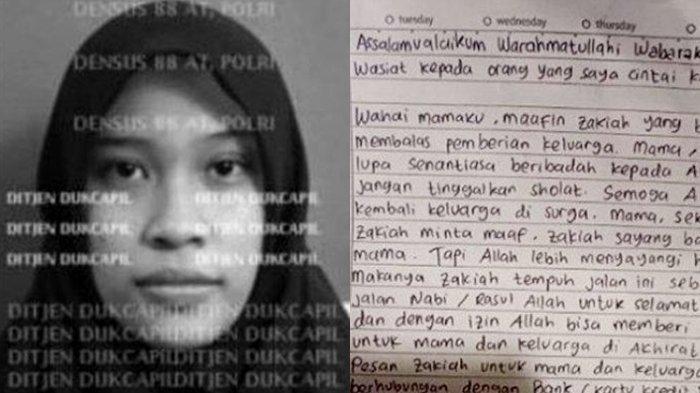 Wasiat Zakiah Aini, Terduga Teroris yang Serang Mabes Polri: ''Mama, Sekali Lagi Zakiah Minta Maaf''